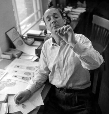 Vladimir Nabokov Inspecting a Butterfly