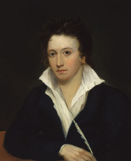 Portrait of Percy Bysshe Shelley.