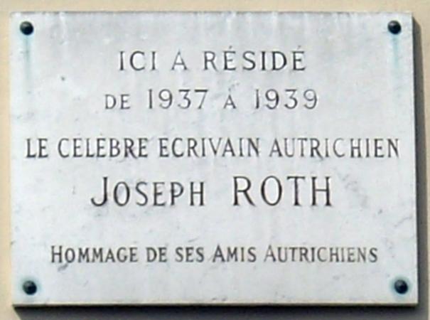 Plaque_Joseph_Roth,_18_rue_de_Tournon,_Paris_6